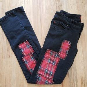 Tripp NYC Plaid Jeans Skinny Daang Goodman 27